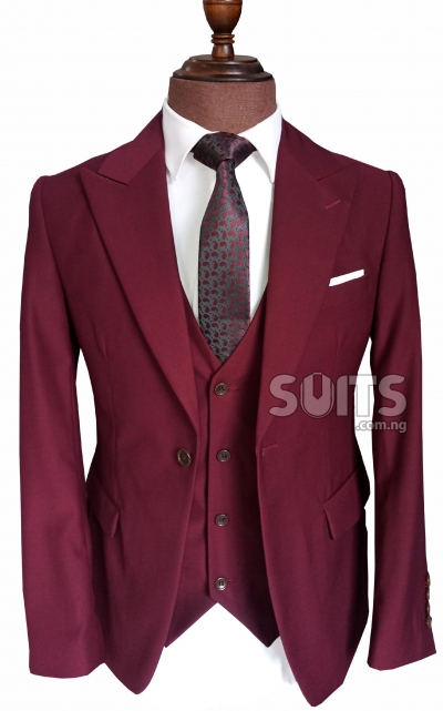 Maroon Ox Blood Colored Wedding Suit By G F 32 000
